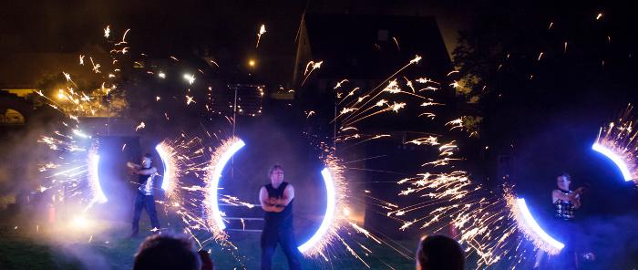 Feuerwerks-Show