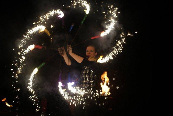 Pyrofinale Hochzeits-Feuershow