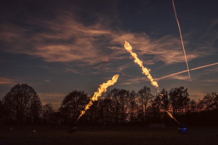 Flammsystem Feuershow Pyroshow SAM&more