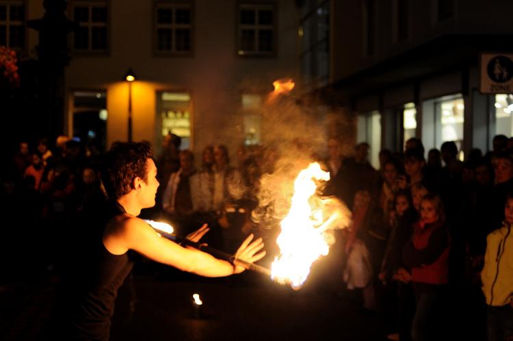 Bochum Ruhrgebiet Feuershow