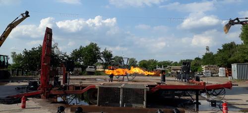 Pyroshow Test Flammsystem