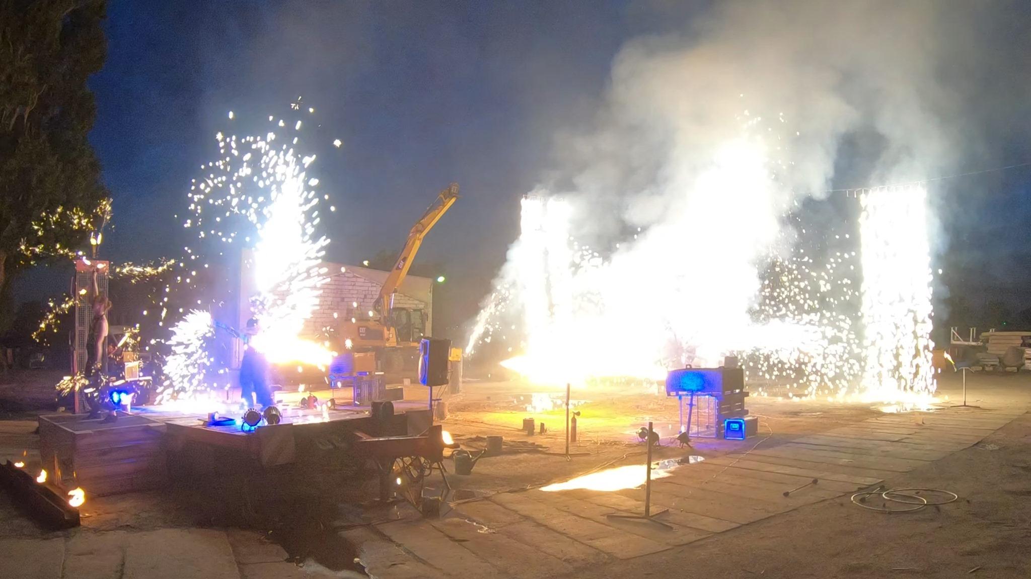 Mitarbeiterfest Feuershow