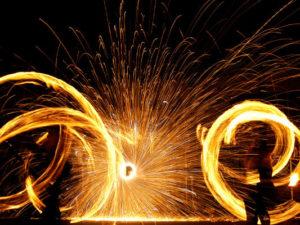 Hochzeit-Feuerperformance